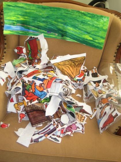 Cutting my Betty Lukens bible felt set .... it is worth it!