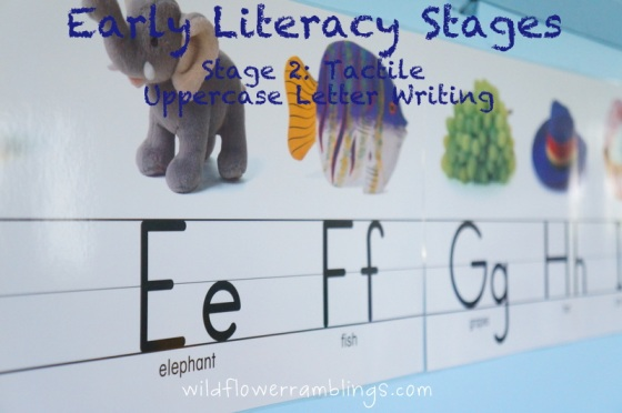{Early Literacy Stage 2} Tactile Uppercase Letter Writing
